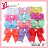 China factory direct wholesale 196 colors available handmade 6 inch ribbon elastic hair bow for girls (XH11-8071)
