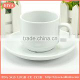 tea cup and saucer hot sale ceramics white porcelain espresso coffee cups and saucers and dish,accept custom design