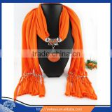 For sale Womans Ladies Beautiful Jewelry Scarf with Accessory round resin pendant