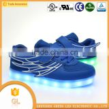 Baby shoes HOT sell mid cut light led kids shoes with wing                                                                         Quality Choice