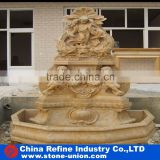 stone carving wall fountain, baby sculpture wall fountain