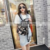 women butterfly printed backpack fashion rivet school bags