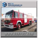 Fire truck with foam/water/powder tanker, SINOTRUK HOWO chassis double/single cabin firefighting truck