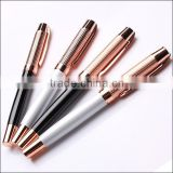 Heavy gold promotional twist mechanism metal ball pen toppers                                                                         Quality Choice