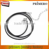 45cm+5cm 18'' Black Rubber Chain Quality Cord String Strap Choker Necklace DIY Fashion Jewelry
