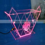 High quality night bar acrylic LEDRGB light table designs, night club dj facade, night bar booth night bar furniture