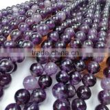 polish Natural Amethyst natural round ,A,AA,AAA grade gemstone beads bulk wholesale amethyst for jewelry