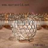cheap wedding silver crystal tealight candle holder votive candle holder for weddng decoration party decoration(CAN-063)