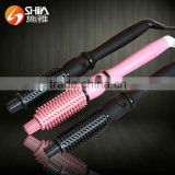 Instant heat hot professional handle can rotate brush iron best hair brush curling iron SY-919