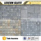 Cheap Slate Wall Cladding Split Face Stone Mosaic Tile