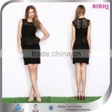 Sexy Women Black Lace Pleated Women Wear Dresses