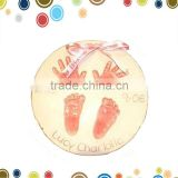 Wholesale soft baby clay handprint ornaments
