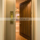 Walnut(oak) veneered solid wood door slab with V grooves, single swing hotel room entry door