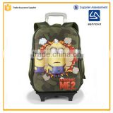 new design removable 3D Despicable Me boy school bag with wheels                                                                                                         Supplier's Choice