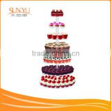 "18"" Base Tier 7 Stages Clear Acrylic Round Cupcake Stand Wedding Birthday Cake Display Tower 1/4"" Thick"