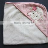 Baby Girl Pink Hooded Towel - SmallCarters Lamb Hooded Baby Bath Towel White Pink Terry Cloth Flower Butterfly