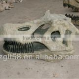Artificial fiberglass dinosaur skull fossil for sale