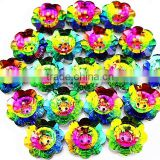 sewing on clothes shoes bags glass bead flower shaped rhinestone button                                                                         Quality Choice