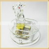 2016 Wedding Artificial K9 glass crystal music box with ballerina