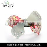 New European and American multicolor bowknot hair accessories, acrylic and rhinestone jewellry
