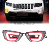 12V LED Daytime Running Light Sourse DRL Fog Lamp With Turning Signal For Jeep Compass 2011 2012 2013 2014