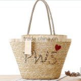 Sea grass striped women straw bags lady large size tote beach bags