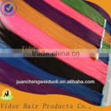 Wholesale Cheap Human Hair 5A quality any color tape hair 100% virgin remy brazilian human hair extension