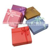 Wholesale Square Paper Jewlery Gift Box with Sponge inside, 90x90x30mm(CBOX-B002-M)