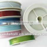 Tiger Tail, Mixed Color, Stringing Loose Handmade Jewelry Materials(L0.38MM)