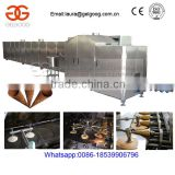 Automatic Flat Mouth Ice Cream Sugar Cone Making Machine Line/Gas Rolled Sugar Cone Maker Equipment                                                                         Quality Choice