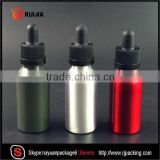 7 Hot sales Screen painting logo e liquid child proof dropper with aluminum bottle 30ml                                                                                                         Supplier's Choice