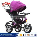 Cheap price adjustable pedals baby trike / 4-in-1 trike with Rubber Tyre/ children ride on car baby carrier tricycle