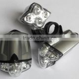 Ultra Bright 4 White LED Lamp Bike Bicycle Front Head Light