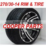 270/30-14, 250CC Racing ATV Wheel Assy,include the Alloy Rim and Road Tires