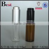 5/7/8/10/12/15ml amber glass tube bottle silk screen printing dropper press cap luxury container                                                                                                         Supplier's Choice