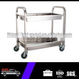 2-Tier Garage Stainless Steel Hand Tool Trolley/Cart with 2 Brake wheels(STC-950-2)(ODM/OEM)