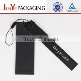 Factory price custom black garment hang tags with string                                                                         Quality Choice