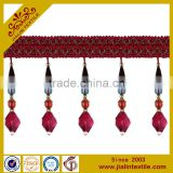 Fringes wholesalers curtains designs acrylic bead lampshade beaded fringe trim for home textile