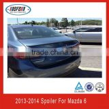 hot selling car bodykits M6 LCI Style ABS lip rear spoiler for mazda 6 2013 2014 wholesale