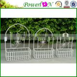 Discounted High Quality Set Of 3 Pcs Flower Hanging Baskets Wrough Iron Flower Pot For Garden Home Patio J13M TS05 X00 PL08-5834