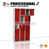 New design 15 door steel locker with bench