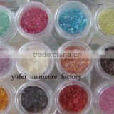 12 Color Acrylic UV Gel Nail Art Glitter Dust Walnut Shell Powder