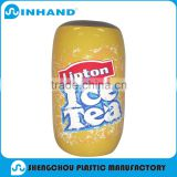 Factory EN71-1-2-3, ASTMCustomized Fashion Yellow PVC Inflatable Ice Tea Bottle