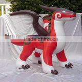 2016 hot sale inflatable zenith dragon in red color