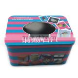 window gift tin box,alibaba metal gift box supplier, cute metal tin can with window
