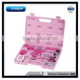 95pcs Household Ladies Pink Hand Tool Set Box