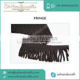 Exotic Design Black Coloured Curtain Bullion Fringe for Sale