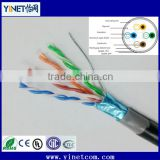 Factory sale low price 24AWG 4pr pure copper CAT5e LAN network cable UTP FTP STP SFTP available
