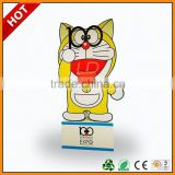 tyre advertising cardboard standees ,two sides display counter standee with hooks ,two sides carton floor display standee