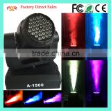 Manufacturer Wholesale 36*3w RGB Colorful DMX512 1500w LED Moving Head Fog Smoke Machine